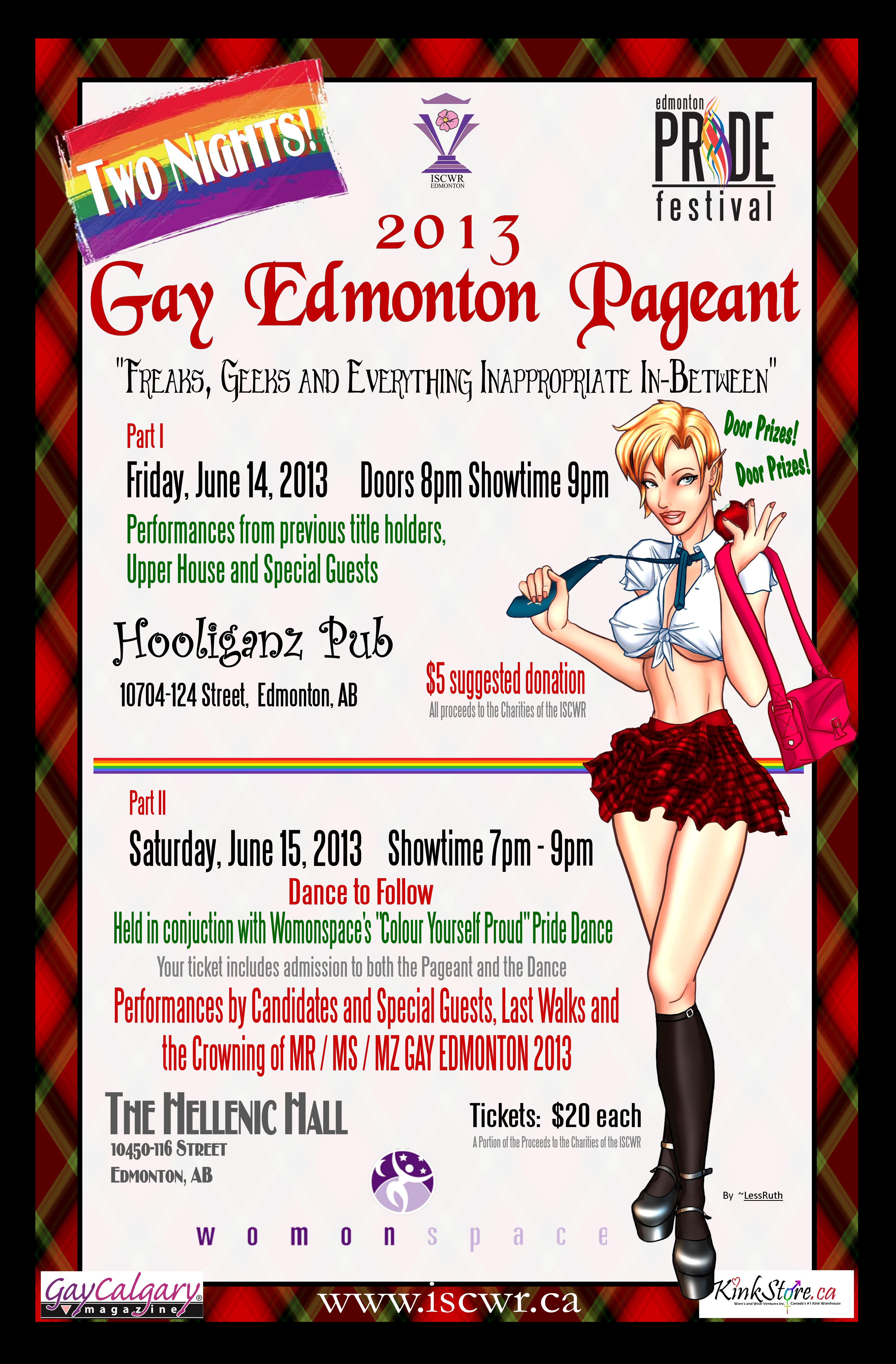 ISCWR: 2013 Gay Edmonton Pageant (Edmonton, Fri Jun 14, 8:00PM)