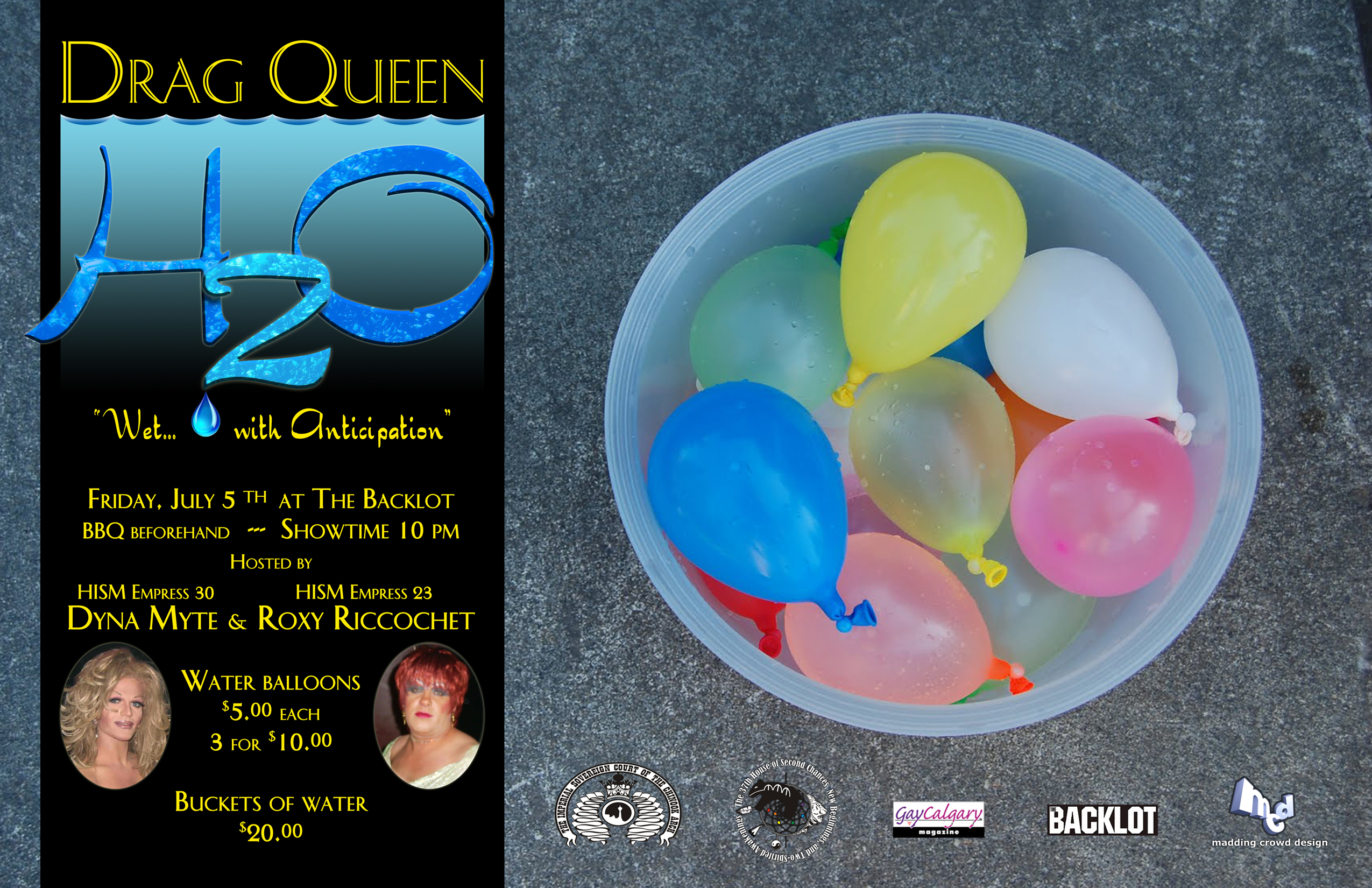 Drag Queen H2O (Calgary, Fri Jul 5, 10:00AM)