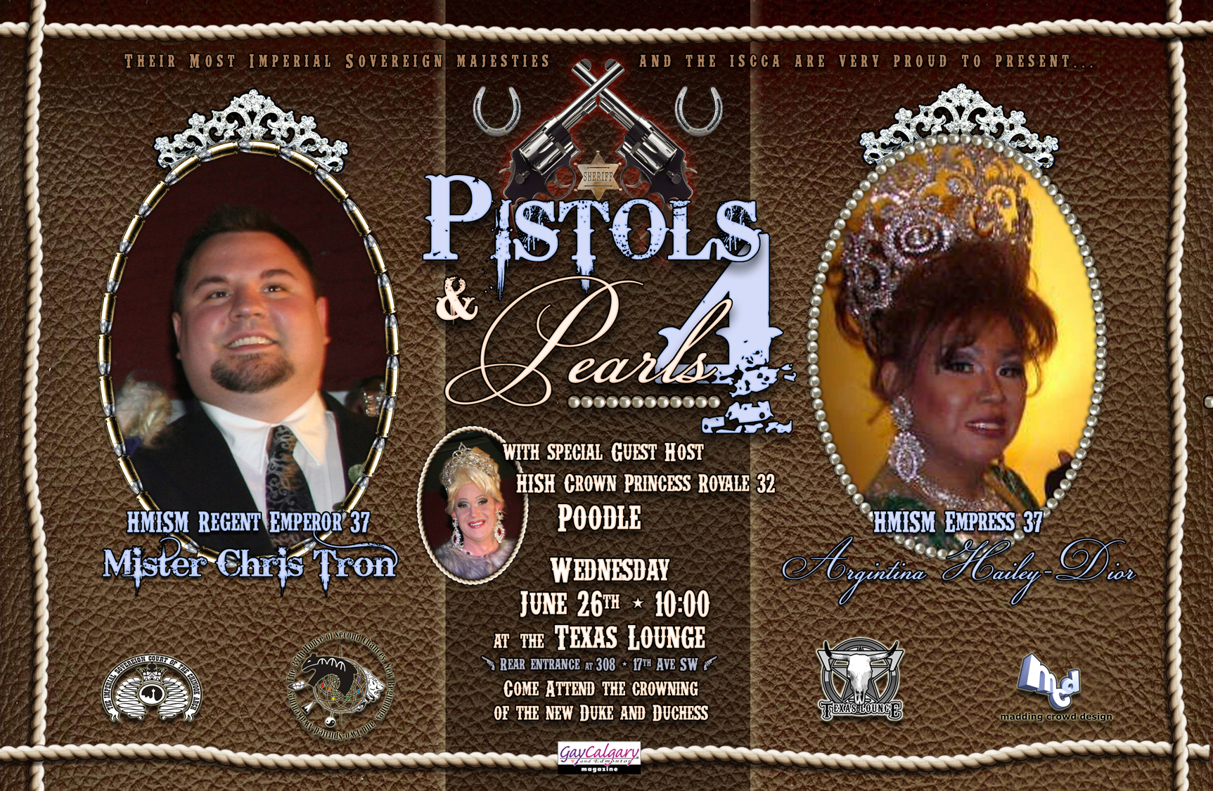 ISCCA: Pistols and Pearls (Calgary, Wed Jun 26, 10:00PM)