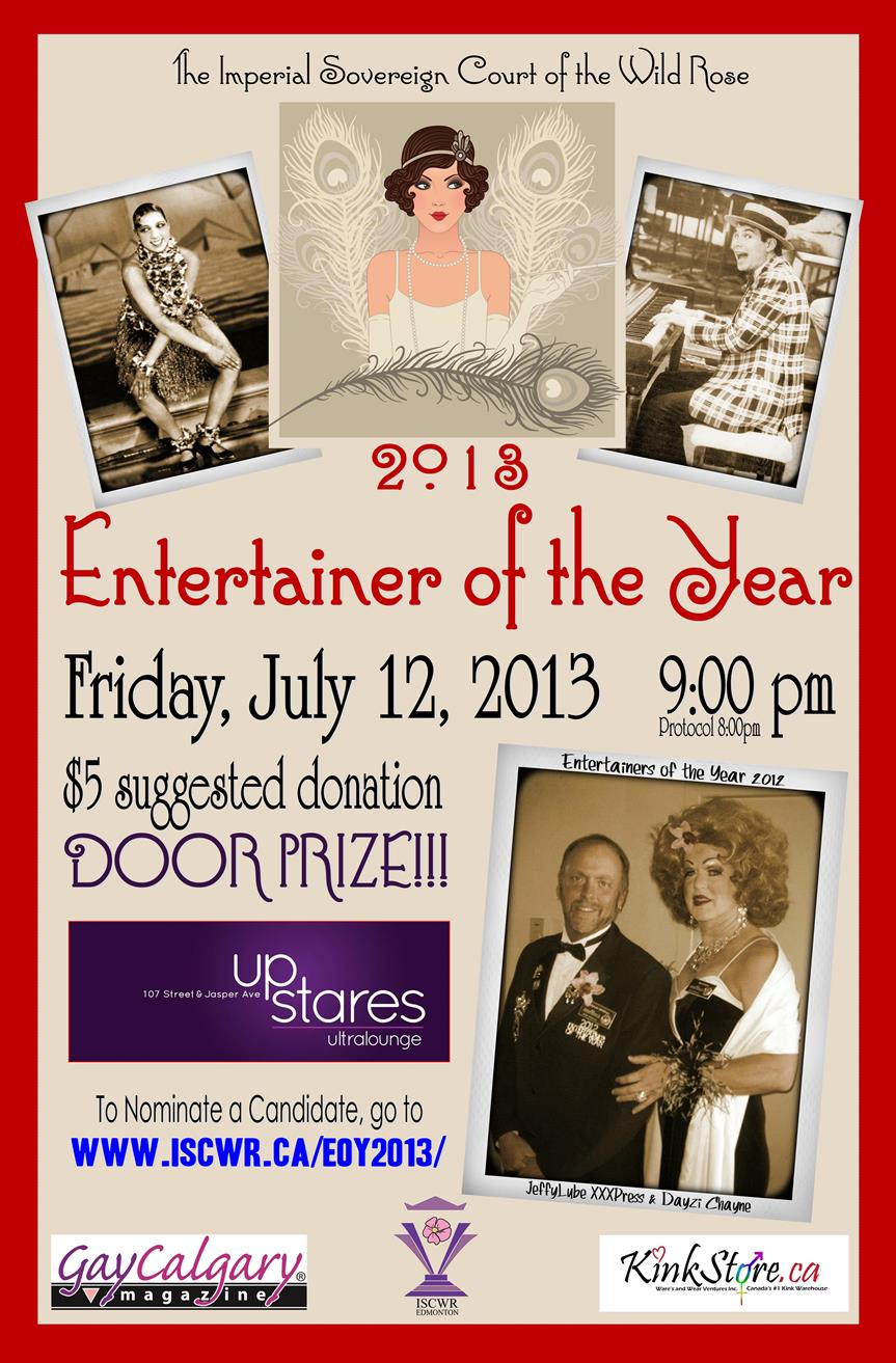 Entertainer of the Year 2013 (Edmonton, Fri Jul 12, 8:00AM)