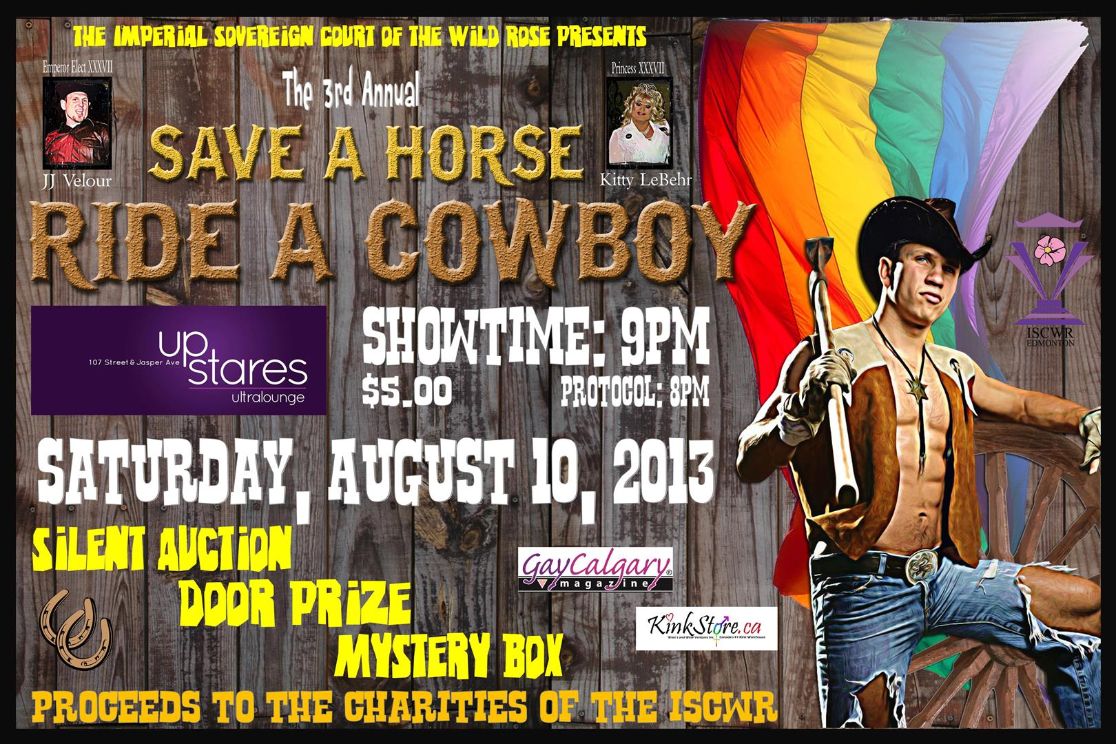 ISCWR: Save a Horse, Ride a Cowboy (Edmonton, Sat Aug 10, 8:00PM)