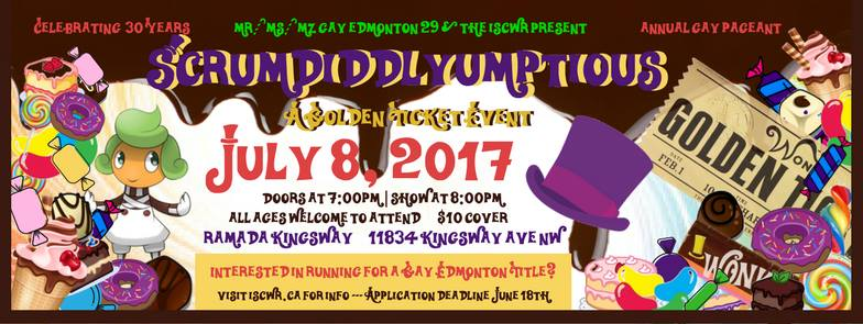 Gay Edmonton Pageant (Edmonton, Sat Jul 8, 7:00PM)