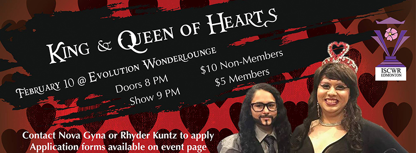 King & Queen of Hearts Pageant (Edmonton, Sat Feb 10, 8:00PM)